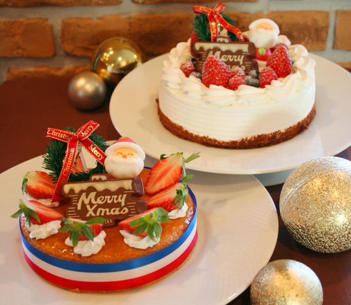 ホテルメイドのクリスマスケーキ。