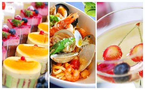 選べるメイン、前菜&デザートビュッフェ